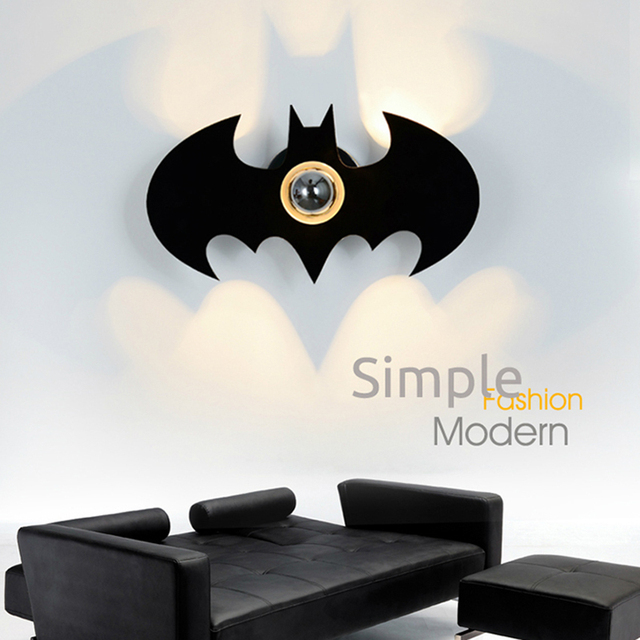 Surface mounted batman shape e27 110220v bulb wall light up down surface mounted batman shape e27 110220v bulb wall light up down led wall lamp aloadofball Choice Image
