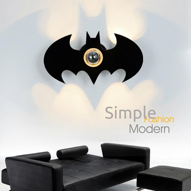 Surface mounted batman shape e27 110220v bulb wall light up down surface mounted batman shape e27 110220v bulb wall light up down led wall lamp aloadofball Images