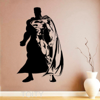 Superhero Man Wall Sticker Poster Comics Decal Vinyl Nursery Kids Children Room Design Home Interior Art