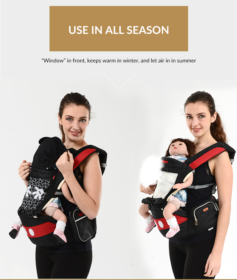 Breathable Multifunctional Front Facing Baby Carrier Infant Baby Sling Backpack Pouch Wrap