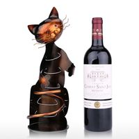 TOOARTS Cat Wine Rack Wine Holder Shelf Metal Practical Sculpture Wine stand Home Decoration Interior Crafts Christmas Gift 4