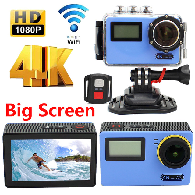Здесь можно купить   NEW touch screen sports camera large screen sport action camera 4K HD FULL WIFI Ultra HD 1080p 60fps 170D Remote waterproof Бытовая электроника