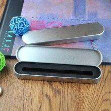 100 pçs/lote caixa da pena para caneta de cristal presente de Luxo caso caixa de lápis de lata para promocional dom caneta cristal caneta caixa