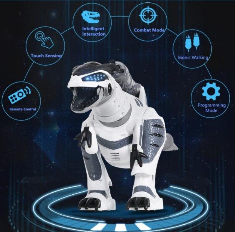 Gran venta de juguetes de dinosaurio inteligente Walking control remoto inalámbrico dinosaurio eléctrico biónico RC con sonido, música, baile, disparo - 2