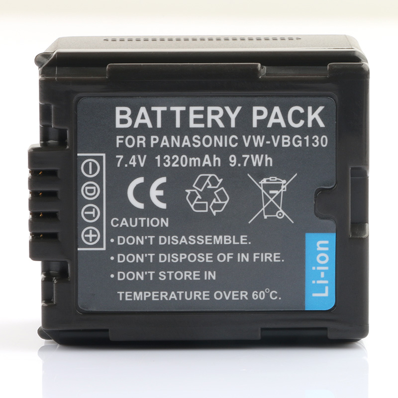 LANFULANG Battery for <font><b>Panasonic</b></font> VW-VBG130 and <font><b>Panasonic</b></font> VW VBG130 <font><b>SDR</b></font>-<font><b>H80</b></font> AG-HMC70 HDC-SD700 AG-AC160 HDC-SD200 image