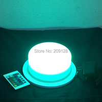 Helle big farben batterieladeenergienbank volle led-licht basis unter vase 175mm