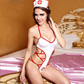 2016 Women Sexy White Game Uniforms Babydoll Hollow Out Erotic Lingerie Lady Sex Underwear Fantasy Costume Sexy Nurse Costumes