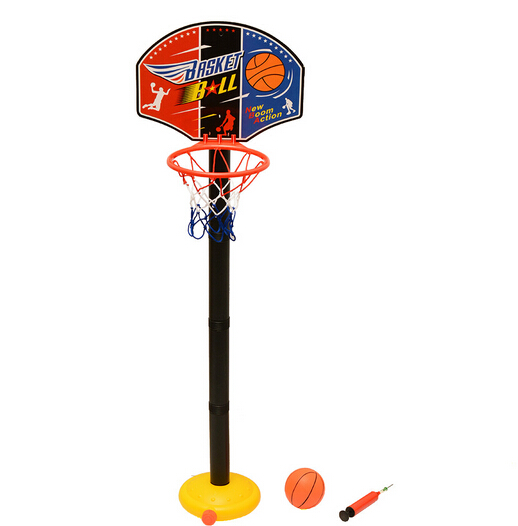 Kids Children Miniature Basketball Hoops Set Stands Adjustable with Inflator Toys for Baby