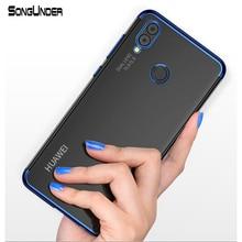 Купить с кэшбэком For Huawei P20 Lite Case Cover Transparent Plating Soft Silicone Back Cover For Huawei P20Lite P20 Pro Nova 3E Case Phone Coque