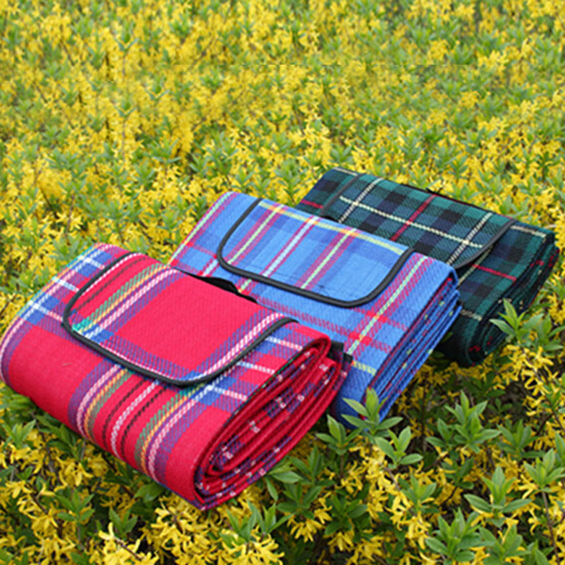 Camping Plaid Picnic Beach Mat Blanket Foldable Climb Outdoor Waterproof Beach Mat Blanket Bedspread for Picnic Beach