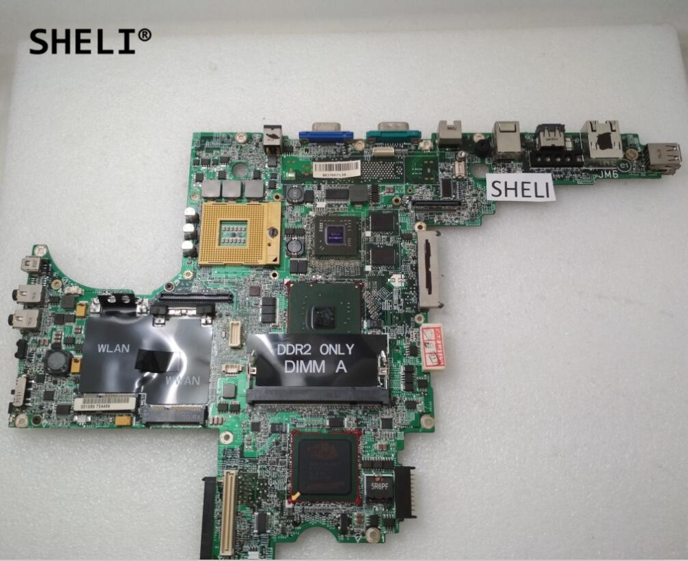 SHELI For Dell D820 Motherboard CN-0F566K F566K CN-0D687K D687K sheli for dell 1645 motherboard with hd 4670 1gb da0rm5mb8e0 cn 0y507r 0y507r y507r