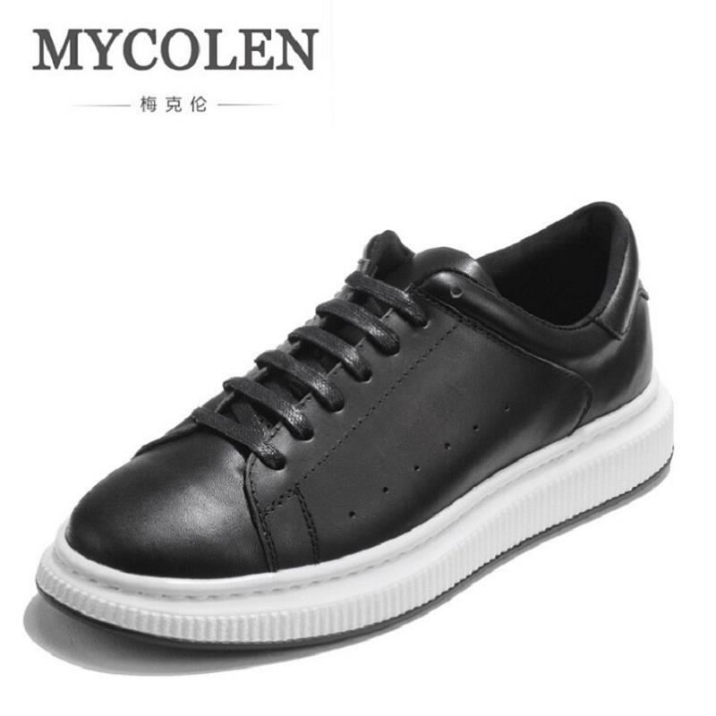 MYCOLEN Luxury Brand Four Seasons Leather Men Casual Shoes British Fashion Round Toe Retro Flat Shoes Mixed Colors Zapato Hombre fashion young man red casual shoes men luxury high top toe mens falts british trend flat heel men s loafers shoes
