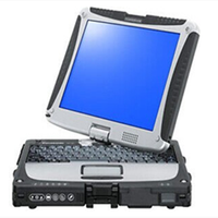 Wireless for Panasonic Toughbook CF 19 Laptop Fully Rugged Rs232 Port, All Working, Tested!