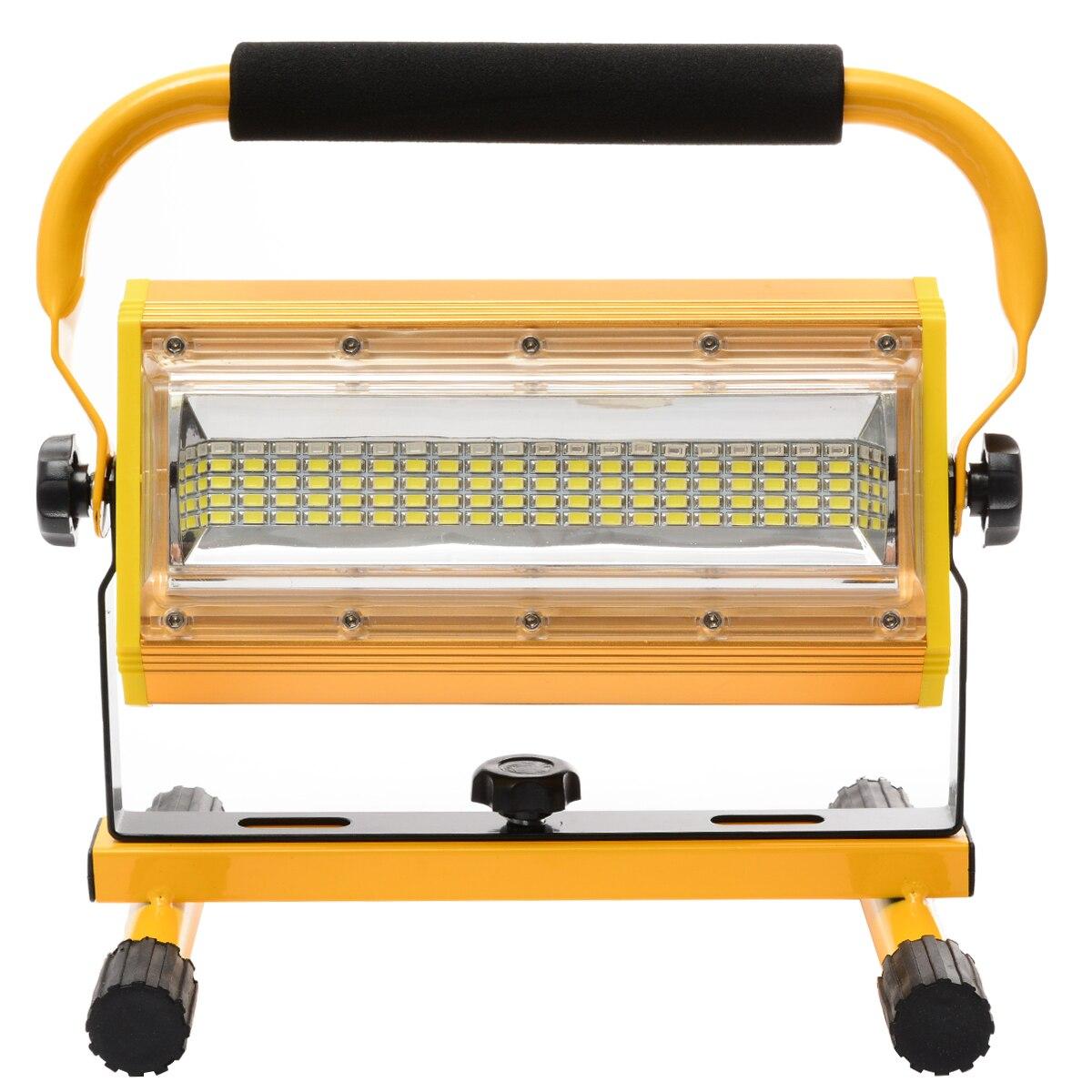1 pièces Mayitr 100 W 60 LED Portable Lumière D'inondation Rechargeable de Travail de Tache de Camping En Plein Air Projecteurs