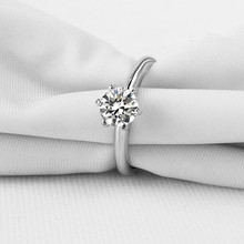 ФОТО 0.8 carat diamond solitaire ring band wedding engagement jewelry(xj)