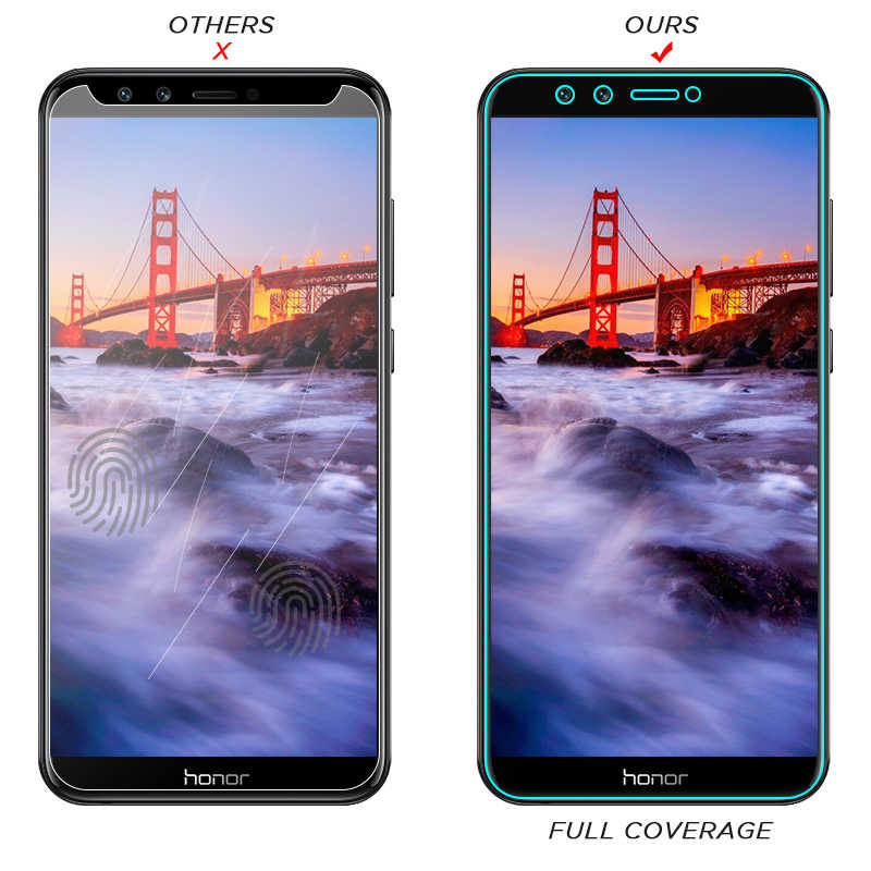 Tempered Glass for Huawei P20 Mate 10 20 Lite Nova 3 Y6 Y7 2018 Screen Protector For Honor 8 9 Lite 6 7C 7A Pro Protective Film
