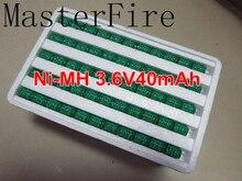 100PCS/LOT Brand New 3.6V 40mAh Ni-MH Ni MH battery data backup battery memory cell PLC industrial battery batteries все цены