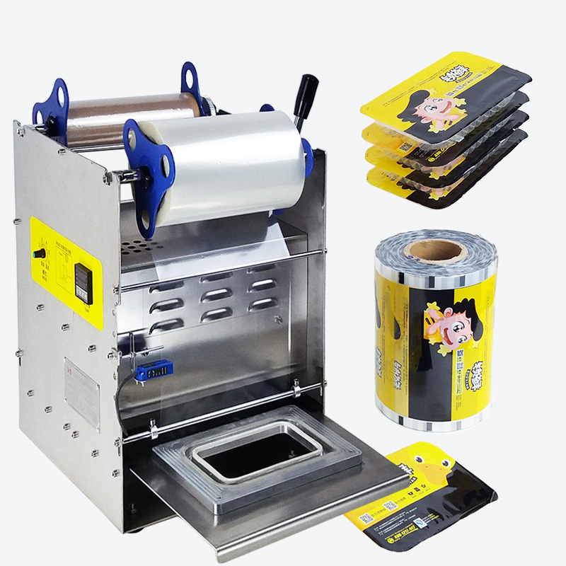Sealing Film Machine For Fast Food Lunch Box Plastic Tray