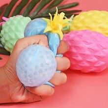 1 pcs Criativo Simples Ventilação Descompressão Espremer Brinquedo Para Crianças Presente Da Novidade Simulação Abacaxi Prático Piadas Brinquedo Engraçado