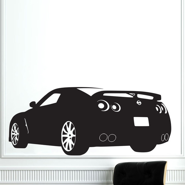 race sports car wall decals vinyl removable home decor k living room