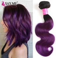 SAY ME Hair Body Wave Brazilian Hair Weave Bundles #1B/Purple 1 / 3 / 4 Bundles 100% Human Hair Weaving 10 18Inch Remy Hair Exte