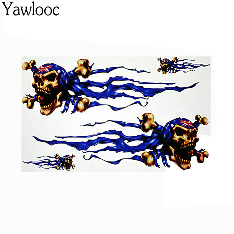 Vinyl Wolf Head Decals Skull Head Fire Flame Funny Eagle Clown Sticker For Motorcycle Car Door Stickers Truck Helmet Decor