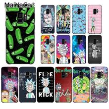 MaiYaCa Rick Und Morty Lustige Cartoon Comic Meme Telefon Fall für Samsung Galaxy S7edge S6 rand plus S5 S8 S7 s9 Plus fall(China)