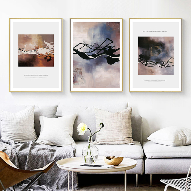 Modern Nordic Abstract Decoration Style Art Posters
