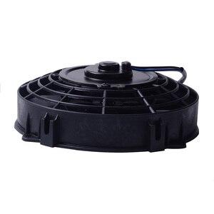 "Image 4 - SPEEDWOW Universal 7"" Motor Engine Radiator Oil Cooler Cooling Electric Pull Push Fan Radiator Engine Cooling Fan 12V 80W"
