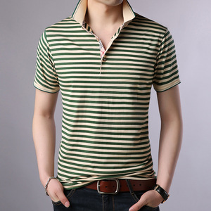 Image 3 - Thoshine 브랜드 여름 남성 우수한 폴로 셔츠 95% Viscose 패션 스트라이프 폴로 셔츠 통기성 인과 Camisa 턴 다운 칼라