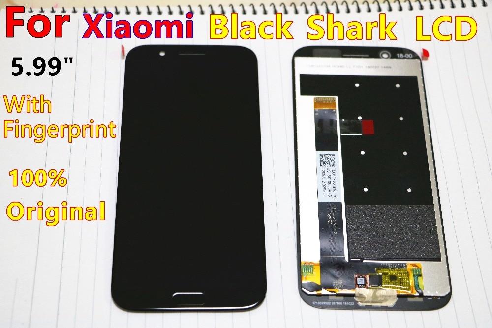 Original For Black shark LCD xiaomi balck shark display Touch Screen Display with fingerprint balck shrak