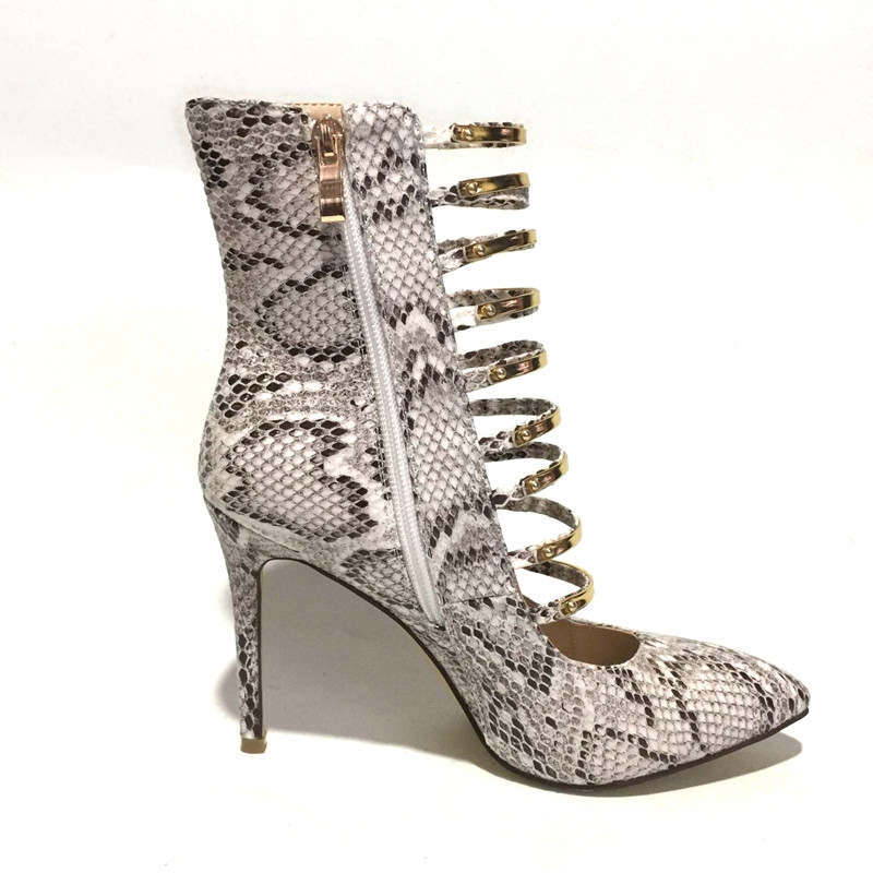 47 Haute Veins Pointu Bottes Printemps Creux Serpent Femme Chaussures Sarairis Taille Cheville Été Snake Talons Bout 34 Partie Plus Sexy Nouveau Casual Veines xYCqBwvI