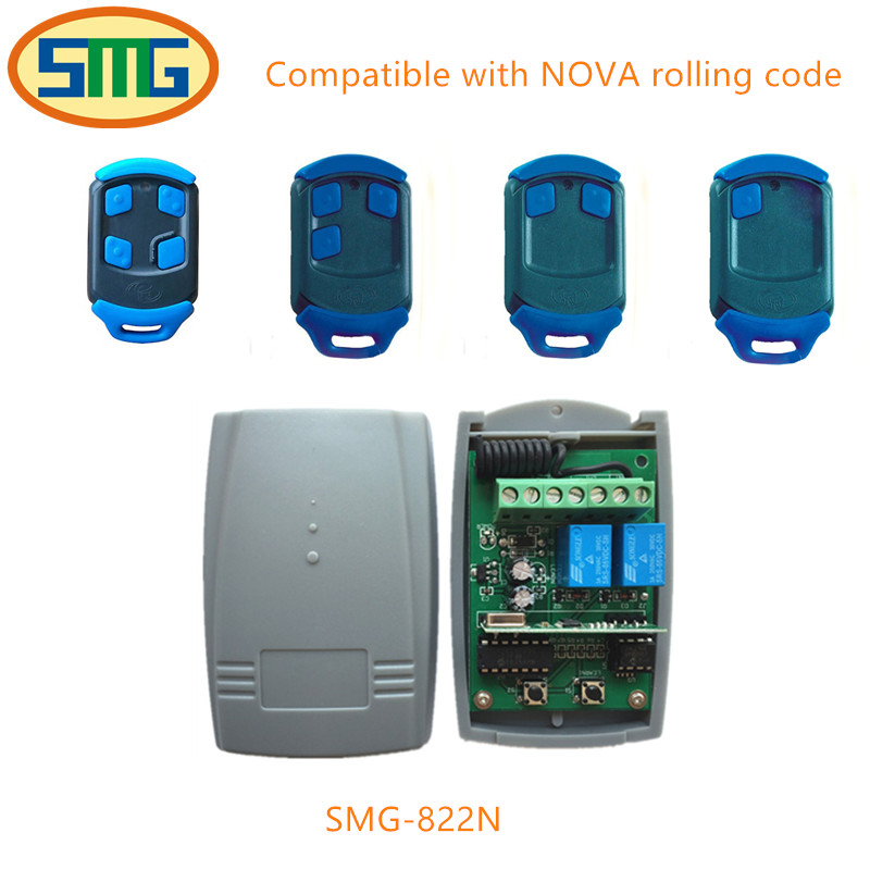 Universal receiver for BFT DOORHAN MHOUS NOVA PUJOL remote control transmitter 433mhz DC 12-24V Free shipping