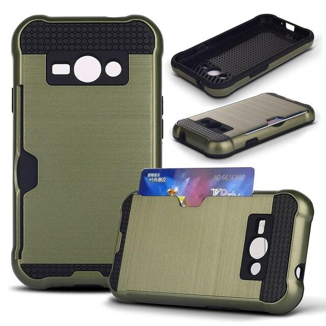 4be73ea1cef PC y TPU Armor Funda de Silicona Para Samsung Galaxy Ace J1 caso Protector  Duro Caso