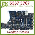 KEFU CN-0KFWK9 материнская плата для Dell Inspiron 5567 5767 материнская плата для ноутбука BAL20 LA-D801P i7-7500U R7 M440 протестированная 100% работа