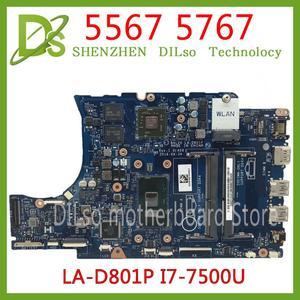 KEFU CN-0KFWK9 motherboard FÜR Dell Inspiron 5567 5767 Laptop Motherboard BAL20 LA-D801P i7-7500U R7 M440 Getestet 100% arbeit