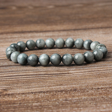 LingXiang fashion  jewelry 8mm natural Cats-Eys Stone loose beads Bracelet Charms Yoga Women meditation amulet