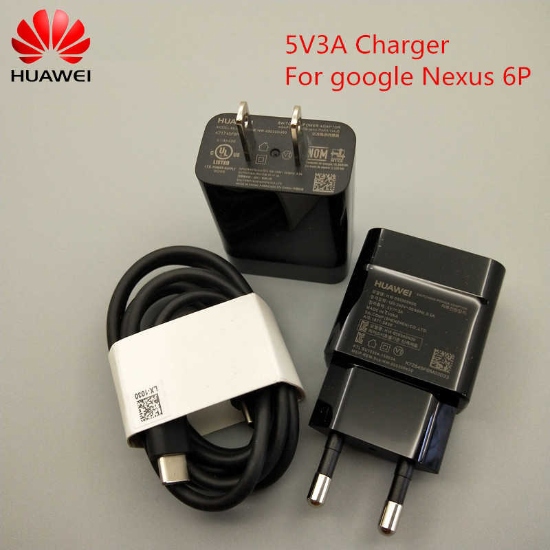 Original Google wall charger brand new 5V 3A Quick Travel Adapter Double Type C data Cable for Huawei Nexus 6P 5X Pixel XL 2 XL