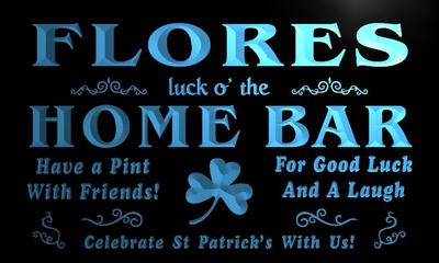 x1089-tm Flores Home Bar Irish Pub Custom Personalized Name Neon Sign Wholesale Dropshipping On/Off Switch 7 Colors DHL