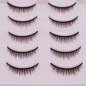 Image 4 - 5 Pairs New 3D Mink Popular Natural Short Cross False Eyelashes Daily Eye Lashes Girls Makeup Necessaries Eyelashes Maquiagem