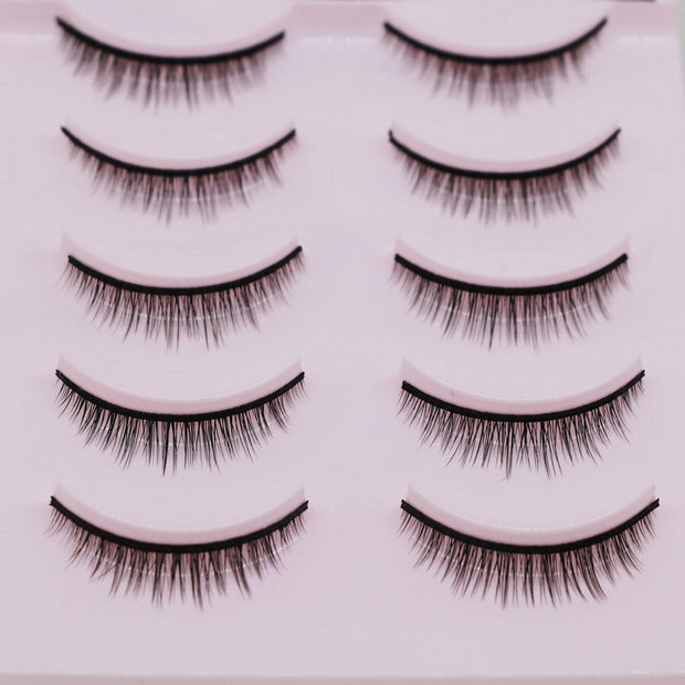Image 4 - 5 Pairs New 3D Mink Popular Natural Short Cross False Eyelashes Daily eye lashes Girls Makeup Necessaries eyelashes maquiagem-in False Eyelashes from Beauty & Health