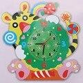 Crianças diy 3d animais de aprendizagem digital relógio crianças brinquedo artesanato brinquedo educativo bonito handmade model building kits