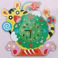 Niños diy 3d animal de aprendizaje digital reloj juguete de los niños educativos artesanía kits de edificio modelo de juguete hecho a mano lindo