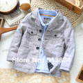 new 2014 Spring autumn baby clothing child blazer baby boy plaid outerwear all-match casual kids jackets & coats