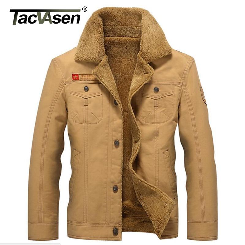 TACVASEN New Military Tactical Jacket Men Winter Thermal Cotton Jacket Coat Army Pilot Jackets Air Force Parka Men TD-QZQQ-006 Куртка