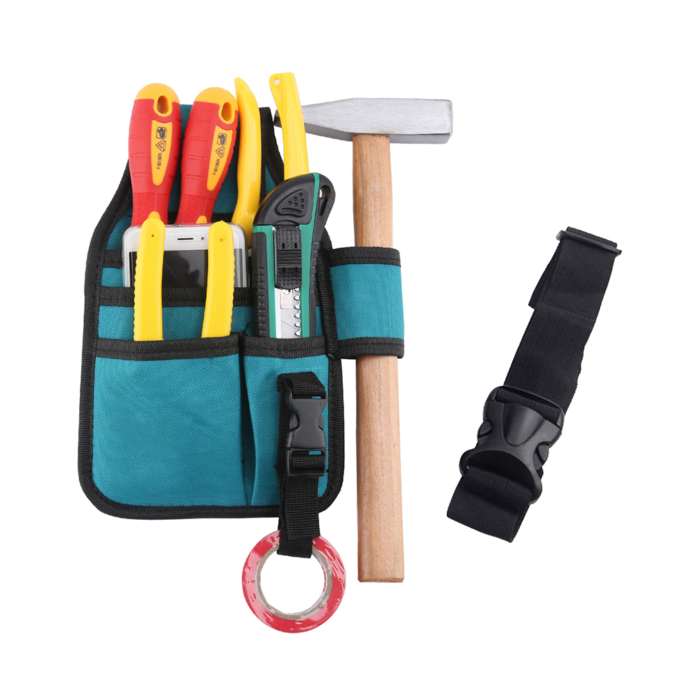 us $1.99 49% off|durable electrician oxford cloth hardware repair tools  waist hanging storage toolkit woodworking carpenter organizer tool bag-in  tool