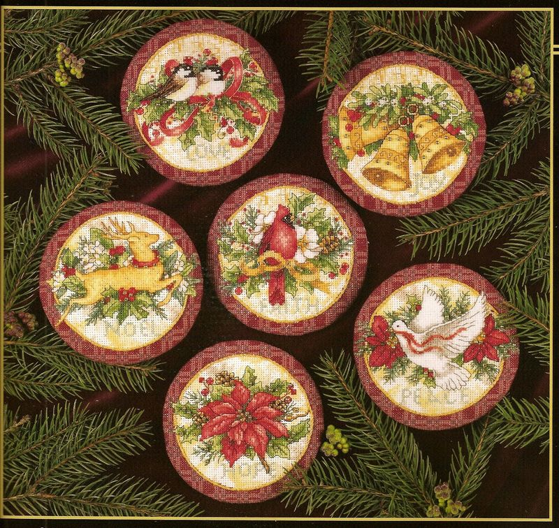 Top Quality Lovely Hot Sell Counted Cross Stitch Kit Old World Holiday Ornaments Ornament Dim 08813
