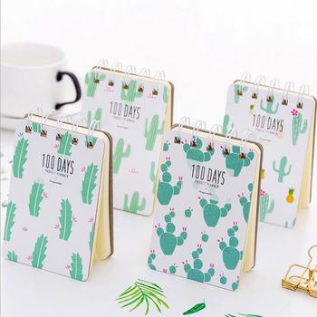 Kawaii mini kaktus kieszonkowy notatnik Diary Planner diy notatnik artykuły papiernicze artykuły biurowe artykuły szkolne G148 tanie i dobre opinie sankilochan Luźne liści Dekoracji Podkładki memo other