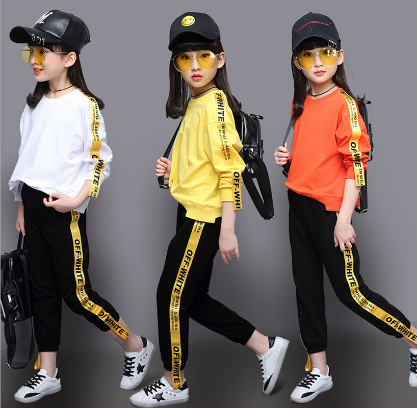 2017 New Girls Sports Suit Korean Fashion Autumn Clothing Set Long Sleeve Sports Outfit for Girls Children 4~14 Years  4 Color hello bobo girls dress collection of sports in the new year is suitable for 2 to 6 years old children s clothing