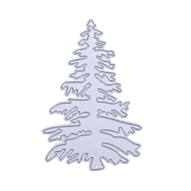 Christmas Tree Pattern Metal Cutting Dies Frame Paper Craft Dies ...